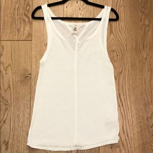 Free people while V neck tank top